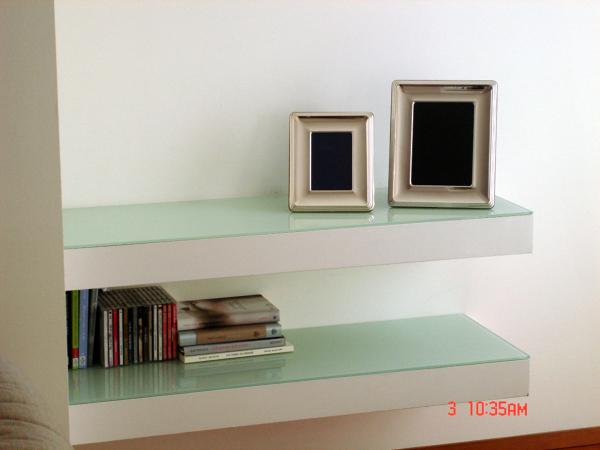 Foto: mensole in cartongesso e cristallo di borocci marco #101545