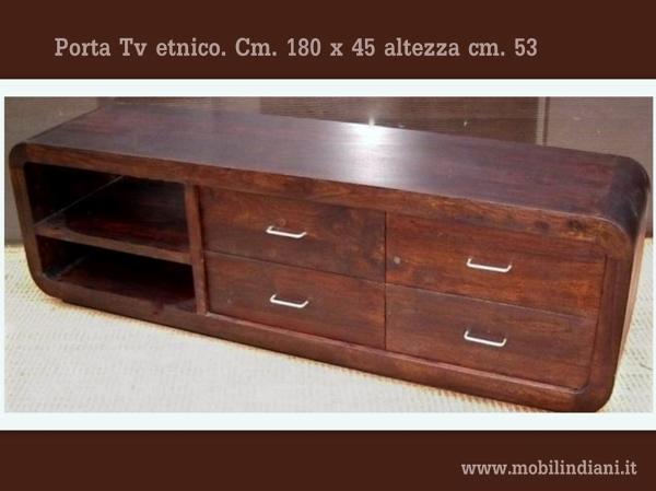 Foto mobile tv etnico di mobili etnici 113770 habitissimo for Arredamento etnico brescia