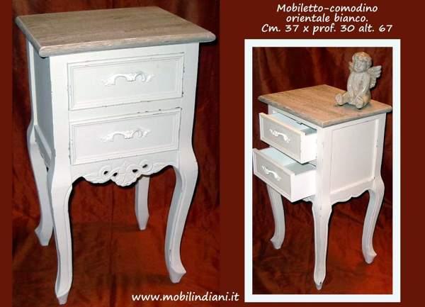 Comodini etnici bianchi foto mobili etnici bianchi di mobili etnici 113662 - Mobili bianchi shabby ...
