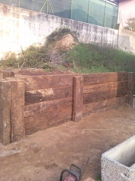 Foto: Muri di Contenimento In Legno di Natura Verde #223086 - Habitissimo