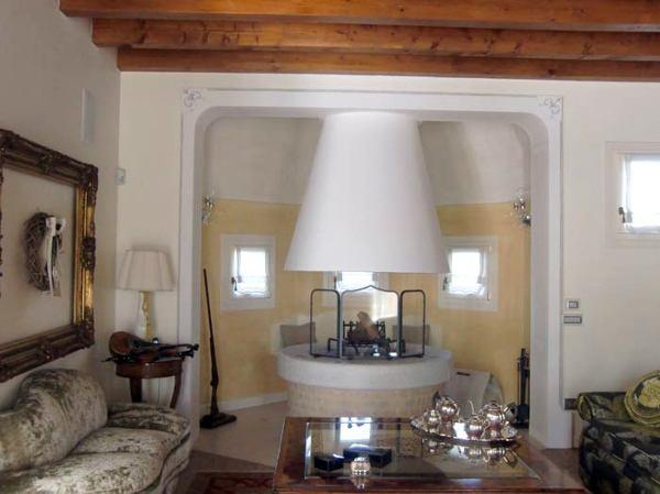 Foto nicchia in cartongesso con caminetto in cartongesso - Arco interno casa ...