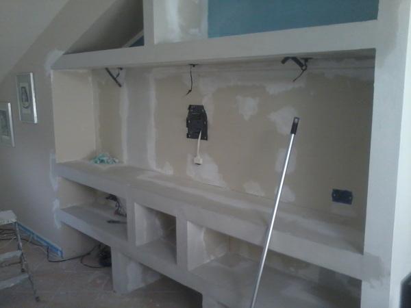 Foto parete attrezzata in cartongesso di decorgessi di - Cartongesso camere da letto ...