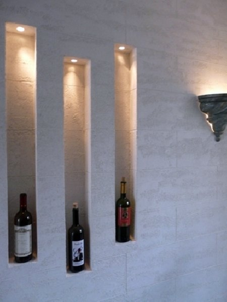 Idee Bagno Minimalista : Foto parete in cartongesso con nicchie di progettazione e