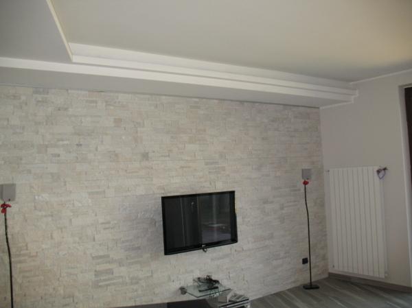 Foto parete rivestite con pietra quarzite di edicolor ristrutturazioni tinteggiature 168255 - Pietra per interni parete ...