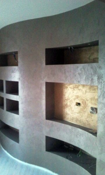 Foto parete tv curva in cartongesso di ab color di claudio sommella 140160 habitissimo - Porta su parete cartongesso ...
