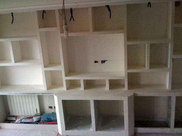 foto pareti attrezzate in cartongesso design casa