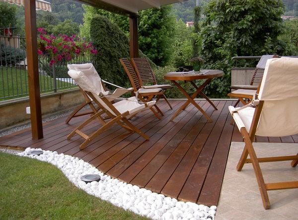 Foto parquet per esterno in ipe 39 lapacho di legno in - Pavimento in legno per giardino ...