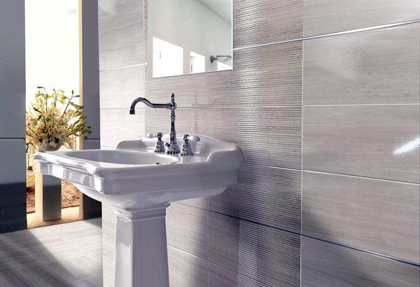 Foto piastrelle da bagno semi lucide new di candian renato 65487 habitissimo - Piastrelle bagno naxos ...
