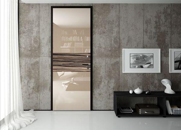 Foto porta blindata legno vetro di milano - Porta a specchio ...