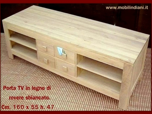 Foto porta tv rovere sbiancato di mobili etnici 113768 habitissimo - Mobili rovere sbiancato ...
