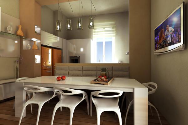 Foto progetto e modellazione sala da pranzo di studio di - Foto sala da pranzo ...