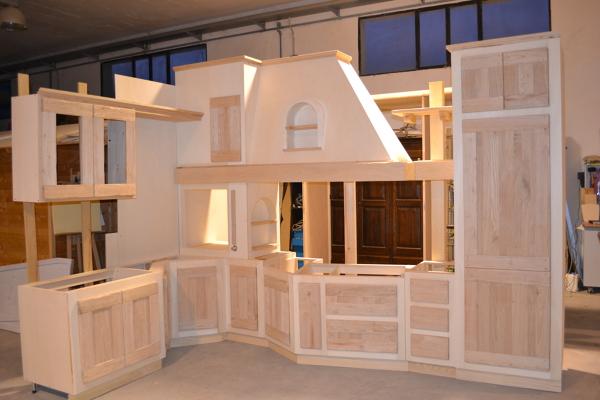 Foto realizzazione cucina in finta muratura di falegnameria macr 174673 habitissimo - Rivestimento cucina in muratura ...