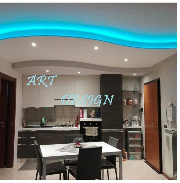 Foto: Doppia Onda Sala Cucina con Led e Faretti di Artdesign #660816 ...
