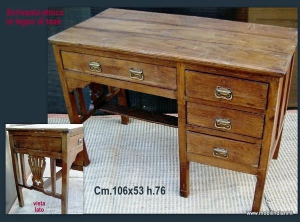 Foto scrittoio etnico in teak di mobili etnici 113938 for Arredamento etnico cagliari