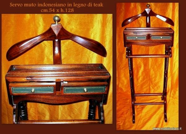 Foto servomito appendiabiti etnico in legno di mobili for Arredamento etnico bari