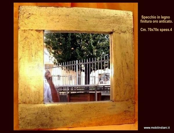 Foto specchio etnico color oro di mobili etnici 113950 for Arredamento etnico bari