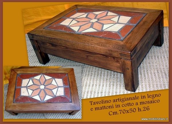 Foto tavolino da salotto artigianale di mobili etnici - Mobili etnici bari ...