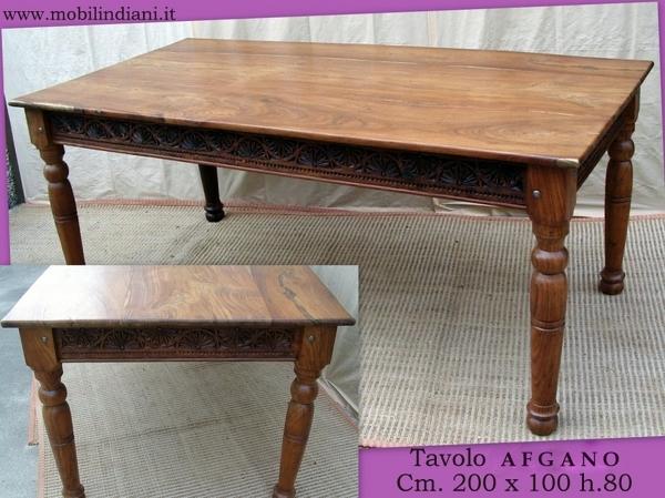 Foto tavolo etnico legno intagliato de mobili etnici for Arredamento etnico brescia