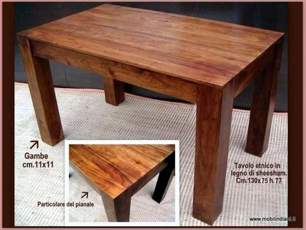 Foto tavolo etnico gamba quadrata di mobili etnici for Arredamento etnico cagliari