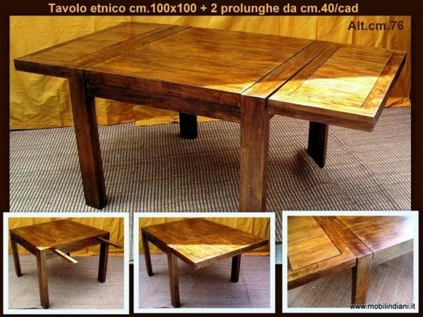 Foto tavolo etnico allungabile di mobili etnici 61510 for Arredamento etnico brescia