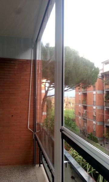 Foto Tende Antipioggia In Pvc Trasparente Con Guide
