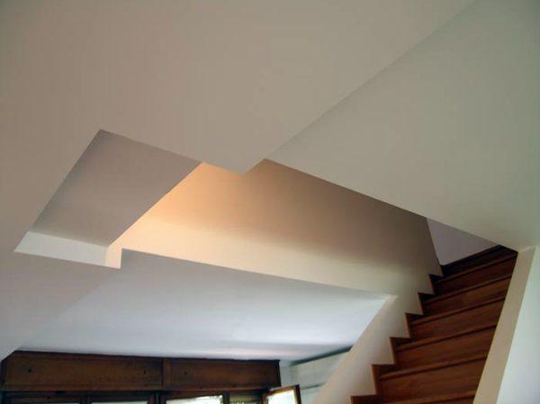Foto vano scale controsoffittatura in cartongesso di for Chiusura vano scala interno