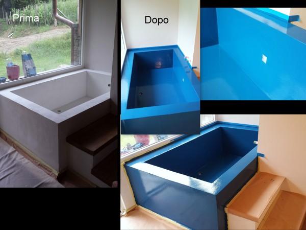 Foto vasca da bagno in resina di fb progettazioni
