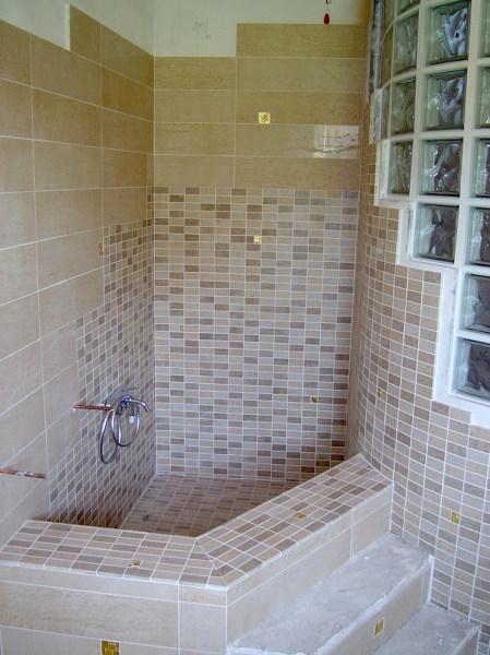 Foto vasca in muratura impermeabilizzata e rivestit con - Vasca da bagno muratura ...