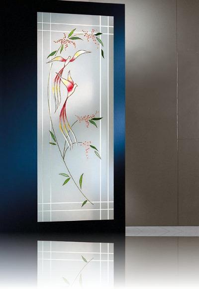 Foto vetro decorato a mano di vetreria euroglass di barbato fabrizio 140260 habitissimo - Porte in legno con vetro decorato ...