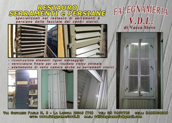 Foto volantino restauro di falegnameria vdl 135276 - Restauro finestre in legno prezzi ...