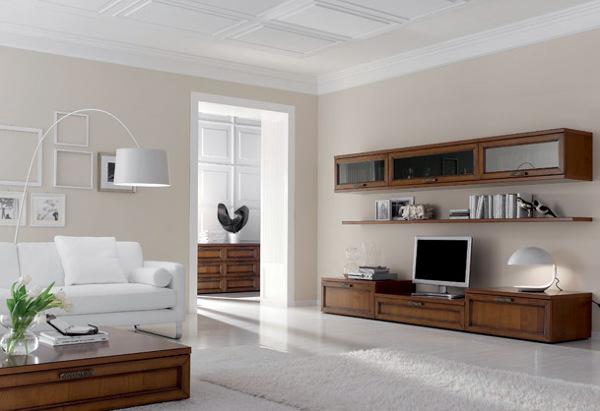 Foto zona giorno parete le monde da tornello arredamenti di tornello arredamenti 50795 - Santarossa mobili ...