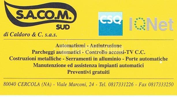 Sacom Sud  Installatore Came - Automazione Cancelli