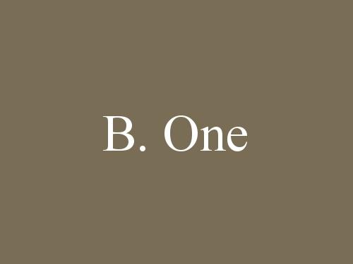 B. One