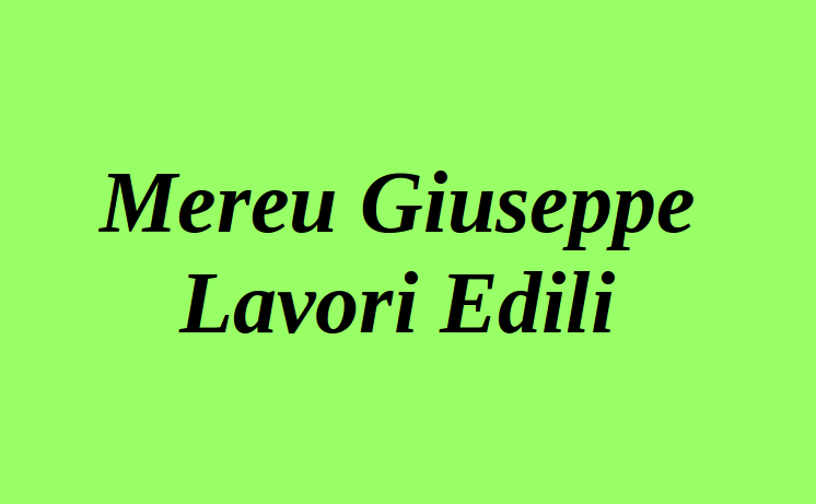 Mereu Giuseppe Lavori Edili