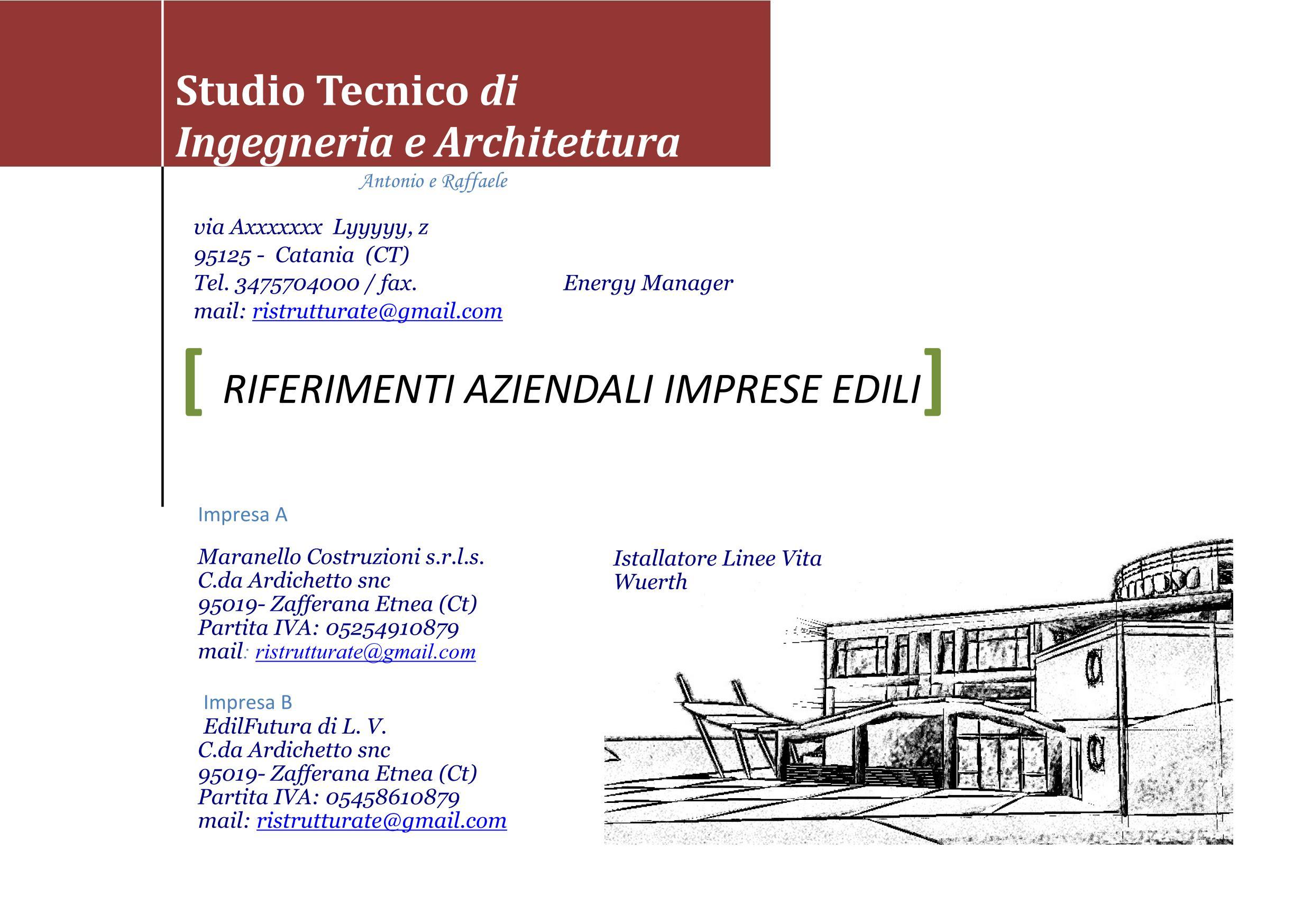 Lavoro Ingegnere Edile Architetto Catania maranello c. ed edilfutura. - zafferana etnea
