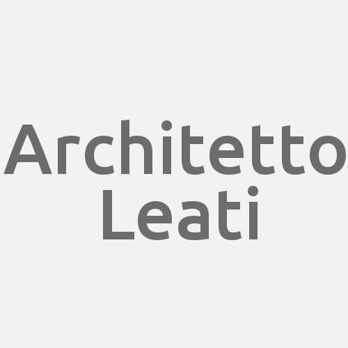 Architetto Leati