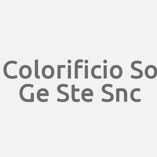 Colorificio So Ge Ste Snc
