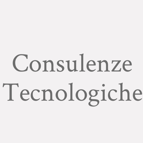 Consulenze Tecnologiche