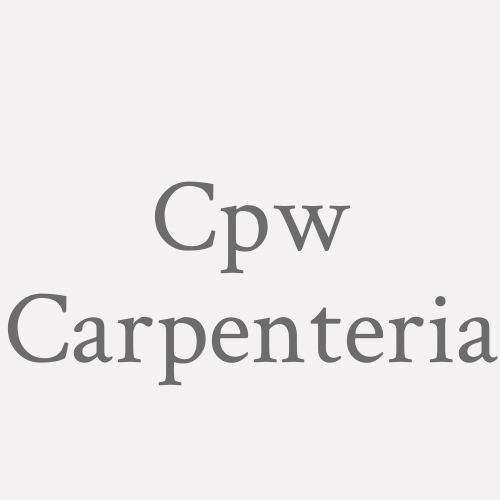 Cpw Carpenteria