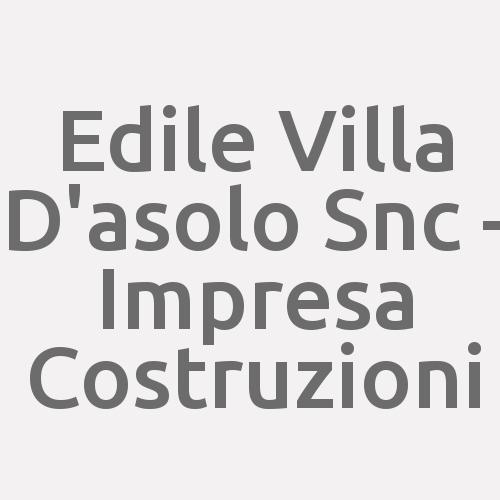 Edile Villa D'asolo Snc - Impresa Costruzioni