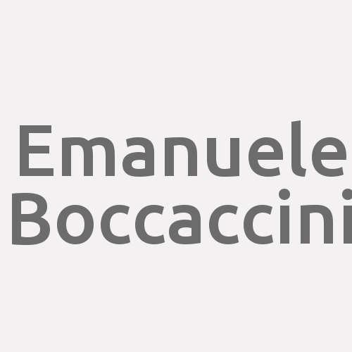 Emanuele Boccaccini
