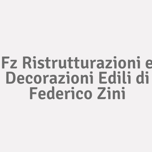 Fz Ristrutturazioni E Decorazioni Edili Di Federico Zini