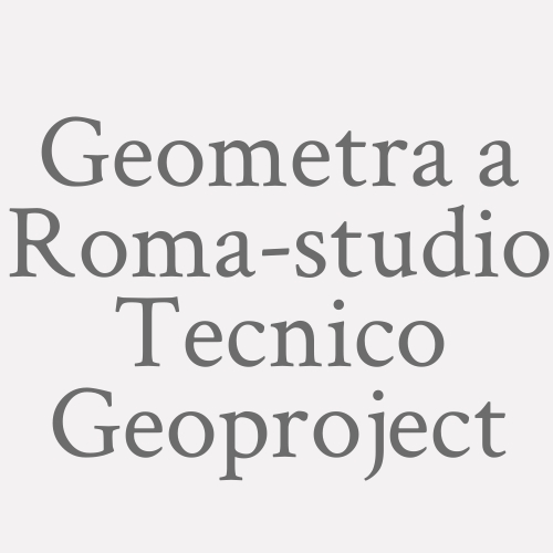 Geometra A Roma-studio Tecnico Geoproject