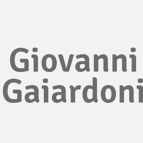 Giovanni Gaiardoni