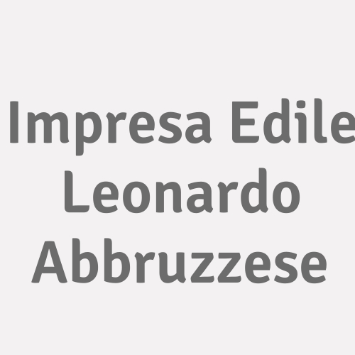 Impresa Edile Leonardo Abbruzzese