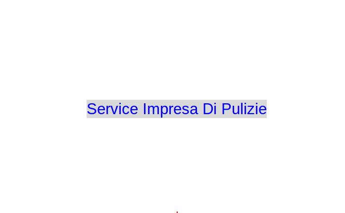 Service Impresa Di Pulizie
