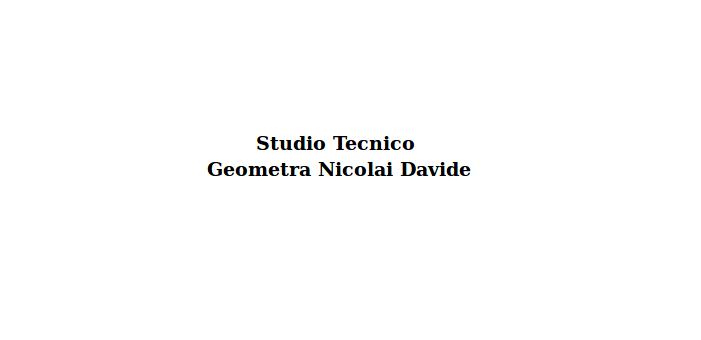 Studio Tecnico Geometra Nicolai Davide