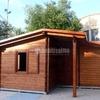 Costruzione stanza hobby in legno sotto tettoia pre-esistente