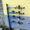 Collocazione contatori acqua a defalco e rivelatori  di sicurezza gas         a