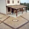 Rifacimento rampa e piazzale con cemento stampato